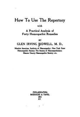 表紙 How to use the repertory
