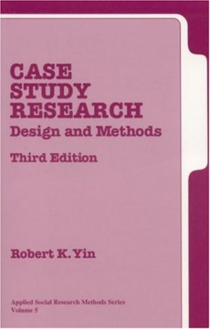 Copertina Case Study Research: Design and Methods, Third Edition, Applied Social Research Methods Series, Vol 5
