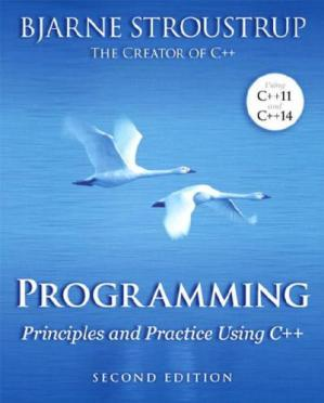 Book cover Programming Principles and Practice Using C++ 2nd Edition