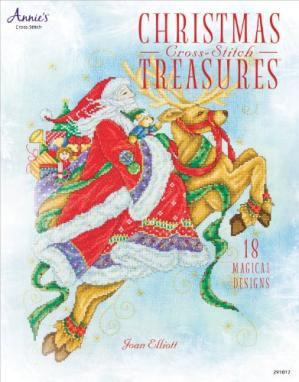 Portada del libro Christmas Cross-Stitch Treasures