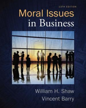 Couverture du livre Moral Issues in Business