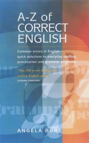 বইয়ের কভার The A-Z of Correct English