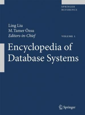 पुस्तक कवर Encyclopedia of Database Systems