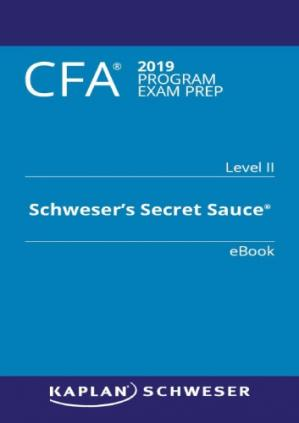 Book cover CFA 2019 Secret Sauce Level 2
