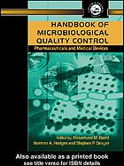 Book cover Handbook of Microbiological Quality Control Pharmaceuticals