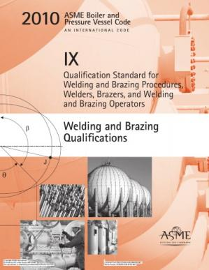 Book cover ASME BPVC 2010 - Section IX: Welding and Brazing Qualifications