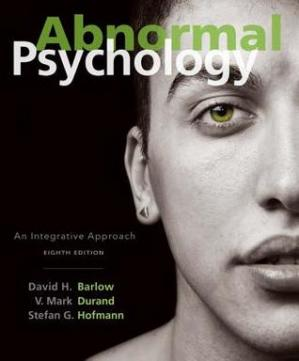 Book cover Abnormal Psychology: An Integrative Approach