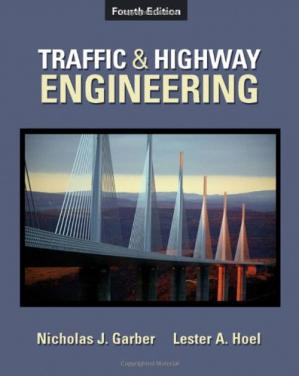 A capa do livro Traffic & Highway Engineering , Fouth Edition