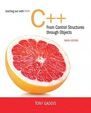 Book cover Starting Out with C++ from Control Structures to Objects