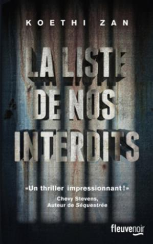 Book cover La liste de nos interdits