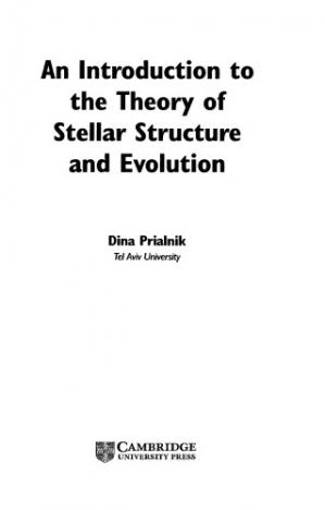 Book cover An introduction to the theory of stellar structure and evolution