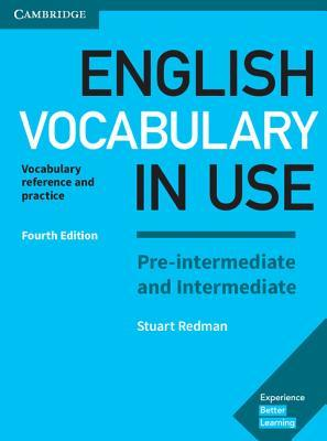 A capa do livro English Vocabulary in Use Pre-Intermediate and Intermediate Book with Answers: Vocabulary Reference and Practice