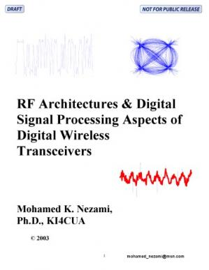 A capa do livro RF Architectures and Digital Signal Processing Aspects of Digital Wireless Transceivers