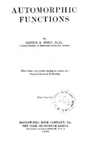 Book cover Automorphic Functions 1ST Edition