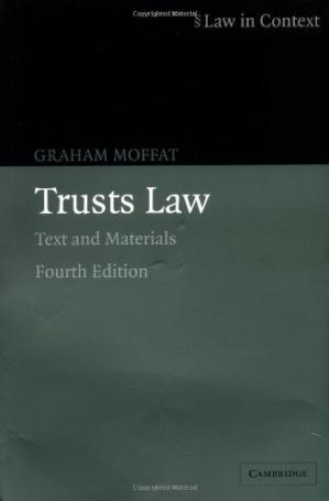 Book cover Trusts Law: Text and Materials (Law in Context)