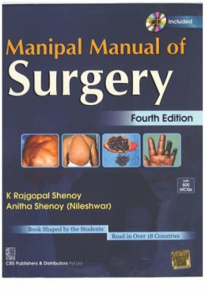 Book cover Manipal Manual of Surgery
