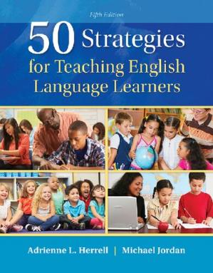 Book cover 50 strategies for teaching English language learners.