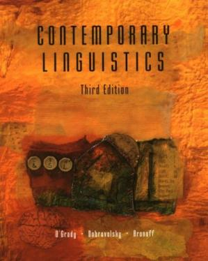 Book cover Contemporary Linguistics: An Introduction