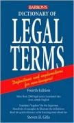 Copertina Dictionary of Legal Terms