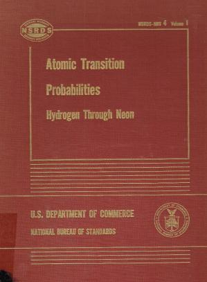 Book cover Atomic Transition Probabilities - Volume I: Hydrogen Through Neon