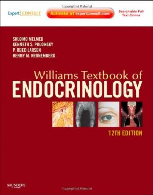 Okładka książki Williams Textbook of Endocrinology, 12th Edition