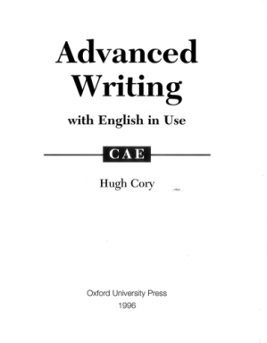 A capa do livro Advanced Writing and English in Use - for CAE