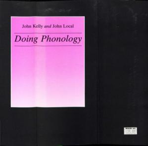 Book cover Doing Phonology. Observing, Recording, Interpreting