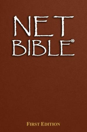 Sampul buku The NET Bible, First Edition: A New Approach to Translation, Thoroughly Documented with 60,932 Notes By The Translators and Editors
