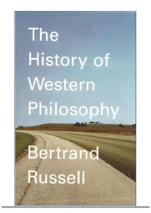 Copertina A History of Western Philosophy [poor font]