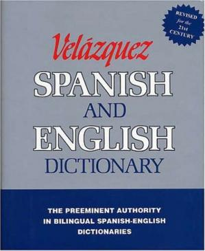 Book cover Velázquez Spanish and English Dictionary