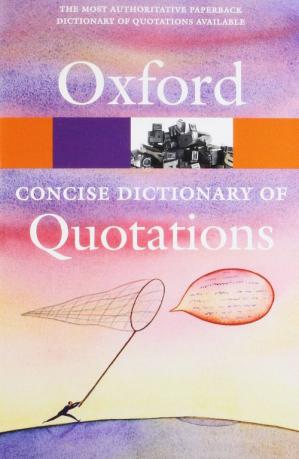 Обложка книги Concise Oxford Dictionary of Quotations