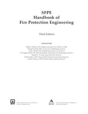 غلاف الكتاب Sfpe Handbook of Fire Protection Engineering