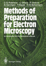 Okładka książki Methods of Preparation for Electron Microscopy: An Introduction for the Biomedical Sciences
