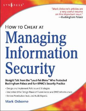 A capa do livro How to Cheat at Managing Information Security