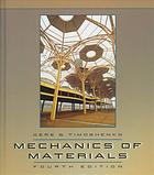 Copertina Mechanics of materials