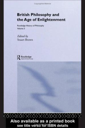 Kitabın üzlüyü Routledge History of Philosophy, Volume 5: British Philosophy and the Age of Enlightenment