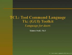 书籍封面 TCL,Tk.Language for doers