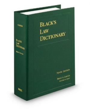 Book cover Black's Law Dictionary