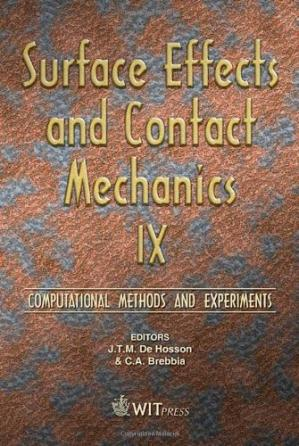 Buchdeckel Surface Effects and Contact Mechanics IX: Computational Methods and Experiments