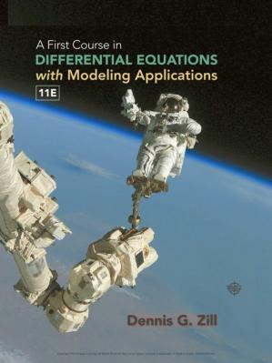 Book cover A First Course in Differential Equations with Modeling Applications