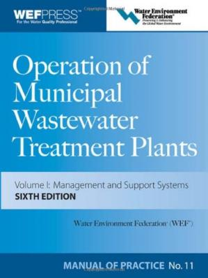 Book cover Operation of Municipal Wastewater Treatment Plants Manual of Practice 11