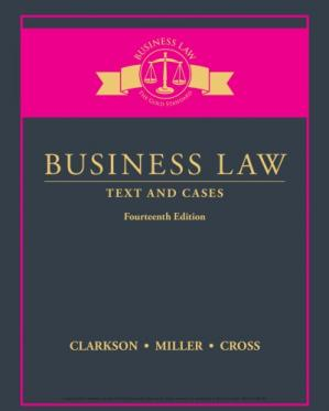 Book cover Business Law: Text and Cases
