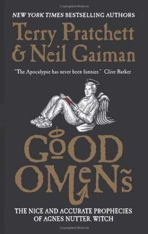 A capa do livro Good Omens: The Nice and Accurate Prophecies of Agnes Nutter, Witch