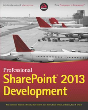Book cover Professional SharePoint 2013 Development