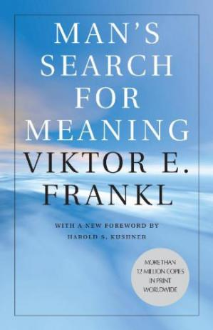 A capa do livro Man's Search for Meaning