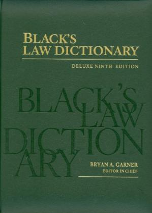 Okładka książki Black's Law Dictionary: Deluxe Ninth Edition