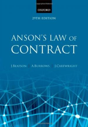 Book cover Anson's Law of Contract