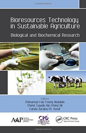 A capa do livro Bioresources Technology in Sustainable Agriculture: Biological and Biochemical Research