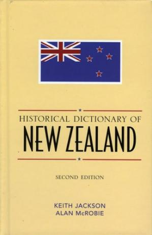 کتاب کی کور جلد Historical Dictionary of New Zealand (Historical Dictionaries of Asia, Oceania, and the Middle East)