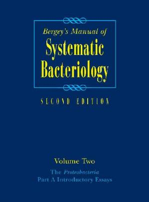 A capa do livro Bergey's Manual of Systematic Bacteriology
